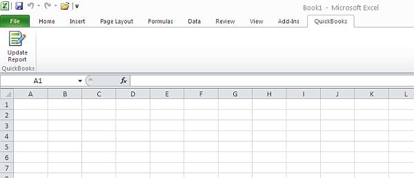 Excel QuickBooks Tab