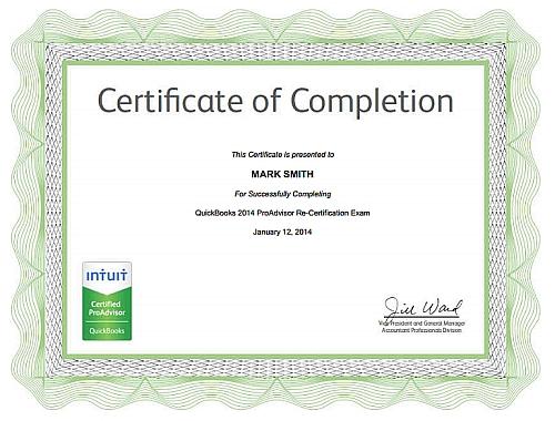 QuickBooks 2014 ProAdvisor Certificate